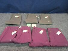 7 Boys Youth Kids Size 12 Lg Pants Jean Clothing Green Maroon Basic Editions Lot