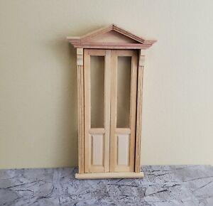 Dollhouse Miniature Door Victorian Shop Exterior Doorway 1:12 Scale