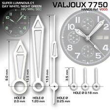 HANDS SET FOR MOVEMENT ETA VALJOUX 7750, V005, SUPERLUMINOVA