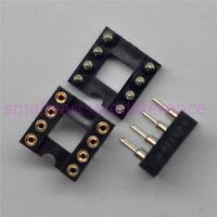 50pcs DIP-8 DIP8 Round Pins IC Chip SOCKET PANEL PCB MOUNT ADAPTER SWAPPING