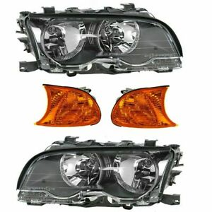 FOR 323CI 325CI 328CI 330CI COUPE 1999 - 2001 HEADLIGHT & CORNER LIGHTS 4X COMBO