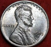 1943 S/S RPM San Francisco Mint Uncirculated Lincoln Wheat Cent#10