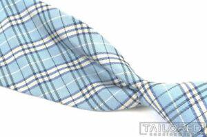 "NWT - BROOKS BROTHERS  Blue Plaid Check 100% Silk Mens Luxury Tie XL - 3.125"""