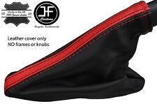 BLACK & RED STRIPE LEATHER HANDBRAKE GAITER FOR VAUXHALL OPEL ASTRA K MK7 16+