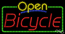 """New """"Open Bicycle"""" 32x17 Solid/Animated Led Sign W/Custom Options 25464"""