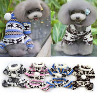 Pet Dog Warm Clothes Puppy Jumpsuit Hoodie Coat Doggy Apparel