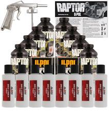 U-POL Raptor Bright White Urethane Spray Truck Bed Liner w/ Gun, 8 Liters Upol