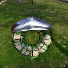 DELUXE HANGING DONUT BIRD FAT BALL SUET FEEDER POWDER COATED FEED HOLDER & CHAIN