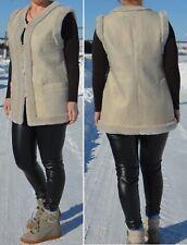 Womens Fashion Fur Vest Jacket, Waistcoat  100% Sheepskin, size S M, Russia