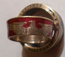 Custom Handmade  90% silver German 5 Mark Paul Von Hindenburg coin Ring 8-14