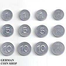 DDR - Set 12 verschiedene Zirkel & Ähre 1 5 10 Pfennig 1952 1953 A E Aluminium