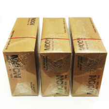 3 × Moon Unbleached Cigarette Rolling Papers King Size 108*45mm W Tips