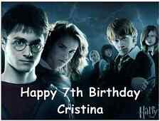 """Harry Potter personnalisé A4 Cake Topper Anniversaire Papier De Gaufrette Comestibles 7.5 """"par 10"""""""