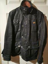 """G-Star Mens Thompson Denim Jacket - Size S (36""""-38"""") - Blue - Biker Style / Worn"""