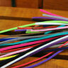Random Mixed 1M Leather Cord Suede Lace Thread Flat Craft Jewelry Making DIY 3mm
