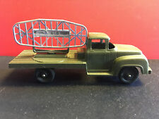Vtg Collectible Tootsie Toy Made In USA Army Truck Green with Radar Equipment