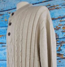 Tricots St. Raphael Men's Pullover Henley Sweater Knit 3XL Warm XXXL NEW $75