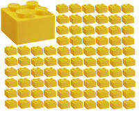 ☀️100x NEW LEGO 2x2 YELLOW Bricks (ID 3003) BULK Parts Grass City Building