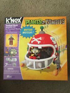 Retired 2014 Plants vs.. Zombies KNEX football MECH building set