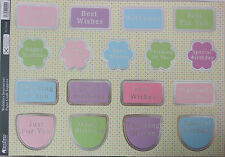 Kanban Paper Craft Toppers Wobblers Sentiments Die-cuts Birthday