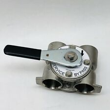 """FLECK STAINLESS STEEL BYPASS SERVICE VALVE #19133  1""""ID X 1-1/8""""ID"""