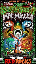 "SLIGHTLY STOOPID / MAC MILLER ""HIGH TIMES CANNABIS COP TOUR"" 2014 CONCERT POSTER"