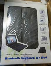 SoundLogic Bluetooth Leather Keyboard For iPad & Portfolio CASE in One  **NEW**