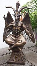 Baphomet Teufel Satan Figur bronziert, Dekoration 666 Hölle Deko bronze Figuren