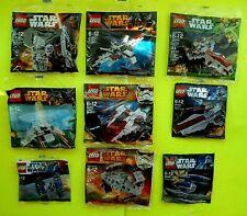 LEGO 9x Lego Star Wars 9 verschiedene Raumschiffe Polybag NEU & OVP