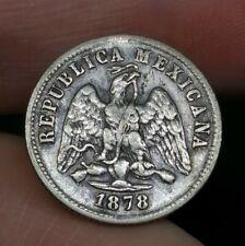 Mexico Silver 10 Centavos 1878 Good Coin Great Condition (17)