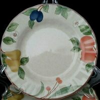 """Mikasa Country Classics Fruit Panorama 9 Bread Butter Plates 6 5/8"""" Appetizers"""