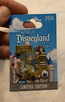 Disney Pin Disneyland Piece of History Pirates the Caribbean Ride Jack Sparrow