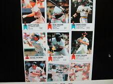 1988 & 1991 MLB Sticker Cards Medium Flat Rate Box Full