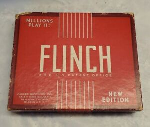 FLINCH Card Game Vtg 1938 Parker Brothers w/Instructions 6in1 game