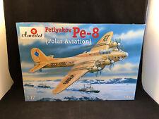 Amodel Petlyakov Pe-8 Polar Aviation Plane 1:72 Scale Plastic Model Kit 72155