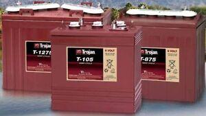 Trojan T875 Trojan battery, 8V 170AH, for  GOLF CARTS, accept trade-ins