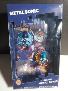 Tomy Metal Sonic The Hedgehog Classic Figurines w/ Sega Exclusive Comic Book