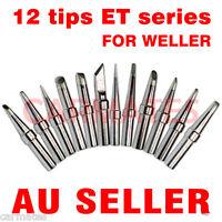 12PCs Solder Soldering Rework Station Iron Tips for Weller LR-21 PU50 WS50 WS51