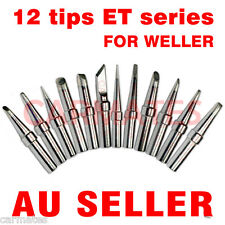 12PCs Solder Soldering Rework Station Iron Tips for Weller LR-21 PU50 WS50 WS51