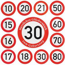 Verkehrszeichen Verkehrsschild Straßenschild Schild 30