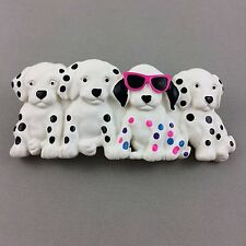 Vintage Dalmation Puppies Barrette Hair Plastic Sun Glasses Dogs Made in Taiwan