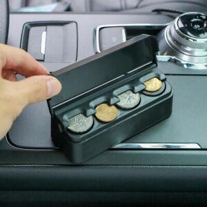 1*Sturdy Car Coin Case Organizer Storage Mini Box Plastic Holder Auto Universal