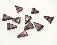 Beads Inlay Black Onyx & Jasper Triangle Beads 24-35mm