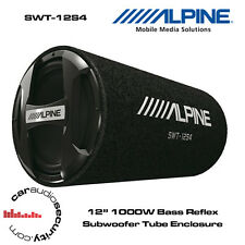 "Alpine SWT-12S4 12"" 20cm Bass Reflex Sub with Tube Enclosure 1000W Bass Tube"