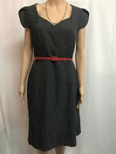 JACQUI.E SIZE 12 BLACK AND GREY DRESS  CAREER, SPECIAL EVENT