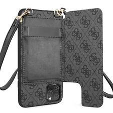 Guess iPhone 11 Pro Max 4G Crossbody Cardslot Schultergurt Hülle Tasche Grau