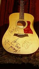METALLICA AUTOGRAPHED / SIGNED TAYLOR GUITAR BY ENTIRE BAND! PASSES & PHOTOS