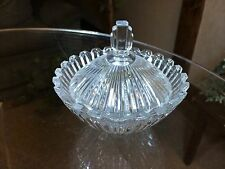 """Mikasa """"Seville"""" Clear Glass Covered Candy Dish Decorative Jewelry Trinket Box"""