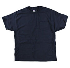 Hanes Men Short Sleeve Beefy Pocket T Shirt Navy 2XL (XXL)