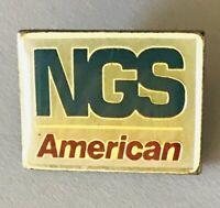 NGS American Insurance Agency Advertising Pin Badge Rare Vintage (C10)